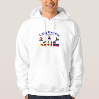 Lake Ononee GA Signal Flags Hooded Sweatshirts
