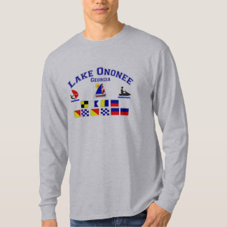 Lake Ononee GA Signal Flags T-shirts