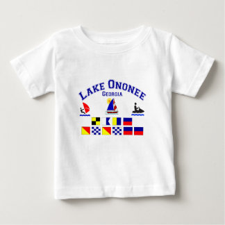 Lake Ononee GA Signal Flags Tee Shirt