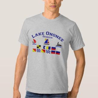 Lake Ononee GA Signal Flags Tshirt