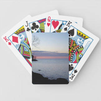 Lake Ontario at daybreak Bicycle Playing Cards
