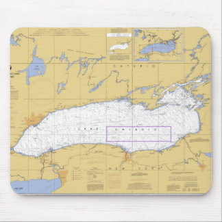 Lake Ontario Nautical Chart Mouse Mat