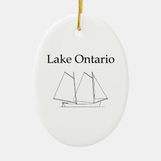 Lake Ontario Sailboat Christmas Ornament