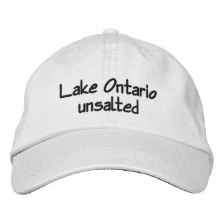 Lake Ontario - unsalted Embroidered Hat