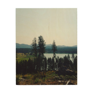 Lake Overview Wooden Wall Art