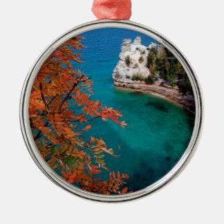 Lake Pictured Rocks Shore Superior Michigan Christmas Ornament