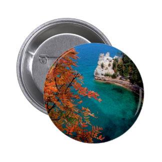 Lake Pictured Rocks Shore Superior Michigan Pin