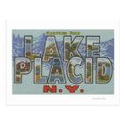 Lake Placid, New York - Large Letter Scenes Postcard