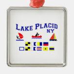 Lake Placid NY Signal Flags Christmas Ornaments