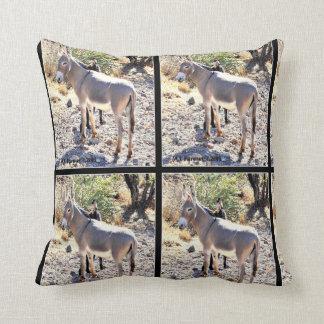 Lake Pleasant Donkey Custom Throw Pillow