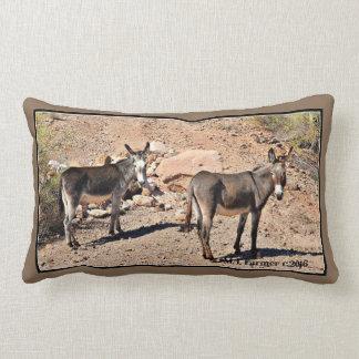 Lake Pleasant Donkeys Custom Throw Pillow
