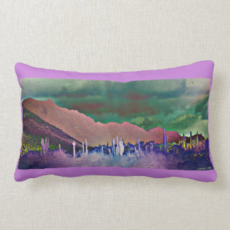 Lake Pleasant Mountains Abstract Lumbar Pillow