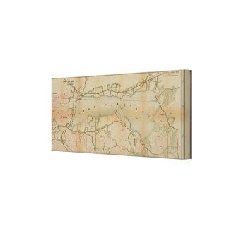 Lake Pleasant New York Vintage Map Canvas Canvas Print