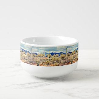 Lake Pleasant Saguaro Landscape Soup Mug