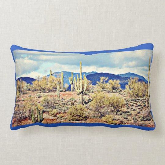 Lake Pleasant Saguaro Landscape Throw Pillow