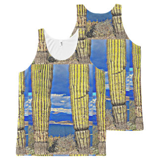 Lake Pleasant Saguaro Pillar Unisex Tank Top