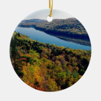 Lake Porcupine Mountains Christmas Ornament