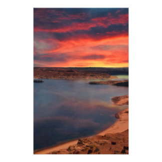Lake Powell beautiful nature scenery Stationery