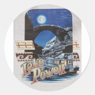 Lake Powell Moonlite Scenic Classic Round Sticker