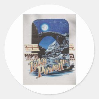 Lake Powell Moonlite Scenic Round Sticker