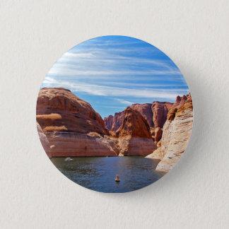 Lake Powell Page Arizona Water Reservoir Landscape 6 Cm Round Badge
