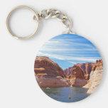 Lake Powell Page Arizona Water Reservoir Landscape Basic Round Button Key Ring