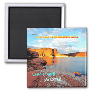 Lake Powell Vintage Style Square Magnet