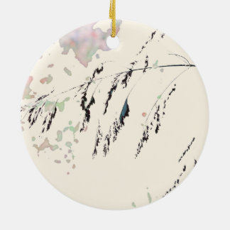 Lake Reeds - Cream and muted pastels Christmas Ornament
