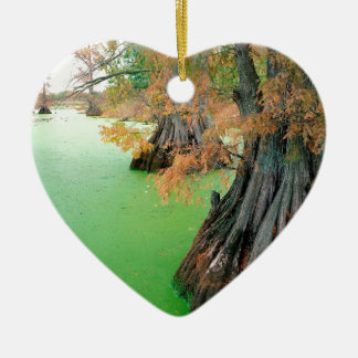 Lake Reelfoot Tennessee Ceramic Heart Decoration