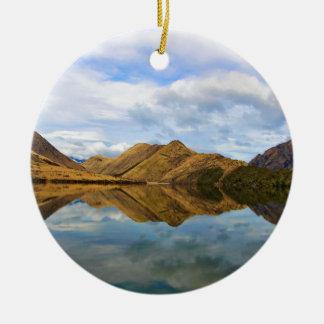 Lake Reflection Christmas Ornament