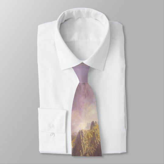 Lake Rocky Mountains Wilderness Mist Hiker Tie