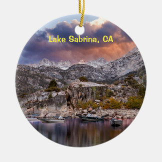 Lake Sabrina, California Christmas Ornament