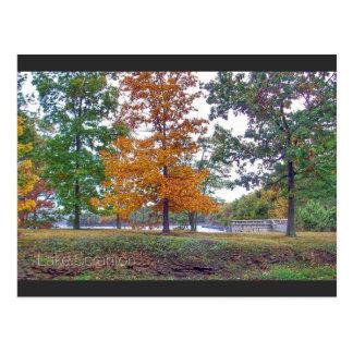 Lake Scranton Postcard Scranton PA-Autumn
