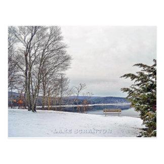 Lake Scranton Postcard Scranton PA-Winter