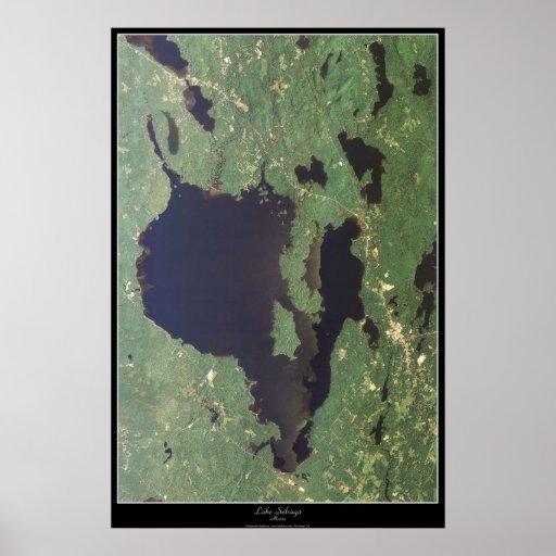 Lake Sebago, Maine satellite poster