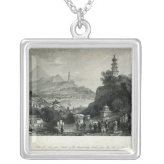 Lake See-Hoo and Temple of the Thundering Silver Plated Necklace