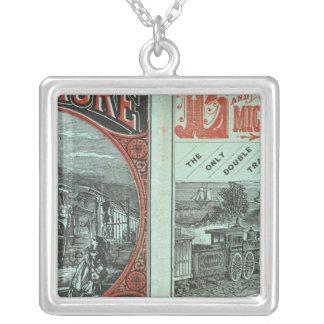 Lake Shore and Michigan So Railway Square Pendant Necklace