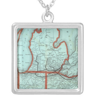 Lake Shore and Southern Michigan Railway Square Pendant Necklace