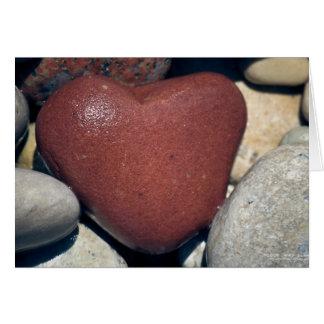 Lake Shore Red Heart Stone Card