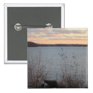Lake Shore Sunset Button