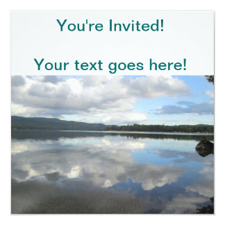Lake Sky Reflection 13 Cm X 13 Cm Square Invitation Card