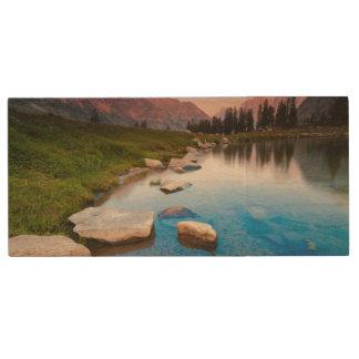Lake Solitude Wood USB 2.0 Flash Drive