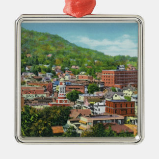 Lake Street Hill View of Business Section Christmas Ornament
