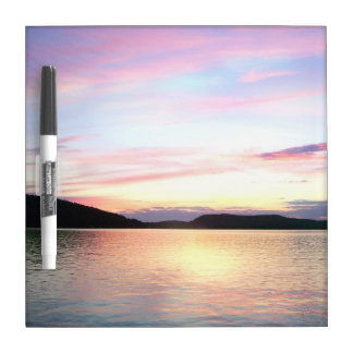 Lake Sunapee Sunset Dry Erase MEMO BOARD with pen Dry Erase Board