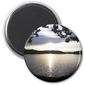 lake sunlight refrigerator magnet