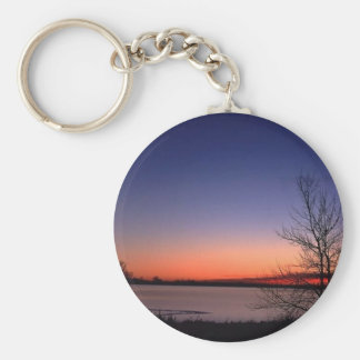 Lake Sunrise Key Ring