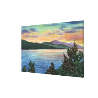 Lake Sunrise View of Buck Mountain Canvas Print