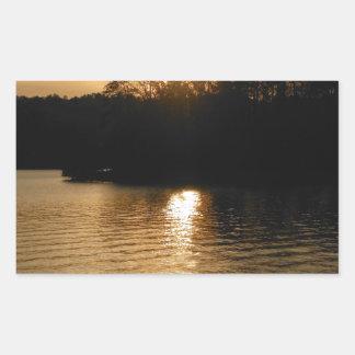 Lake Sunset Sepia Fishing Gifts Fisherman Dad Rectangle Stickers