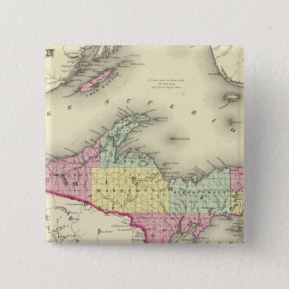 Lake Superior And The Northern Part Of Michigan 15 Cm Square Badge