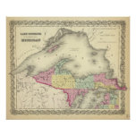 Lake Superior And The Northern Part Of Michigan Poster
